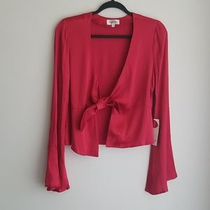 NWT Privacy Please Revolve Tie Blouse Size S
